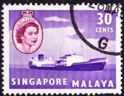 Singapur - HM + Öltanker (MiNr: 38) 1955 - Gest Used Obl - Singapur (...-1959)