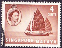 Singapur - HM + Twa-Kow (Segeltransporter) (MiNr: 30) 1955 - Gest Used Obl - Singapur (...-1959)
