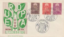 Enveloppe   FDC  1er  Jour   LUXEMBOURG   Série    EUROPA   1957 - Europa-CEPT