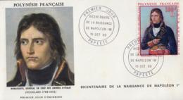 Enveloppe  FDC  1er  Jour   POLYNESIE    NAPOLEON  BONAPARTE   1969 - Napoleon