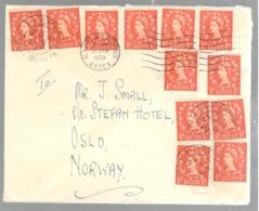 23289 - Affranchissement  12 TP Pour La Norvège - 1952-.... (Elizabeth II)