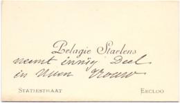 Visitekaartje - Carte Visite - Pelagie Staelens - Eecloo Eeklo - Cartoncini Da Visita