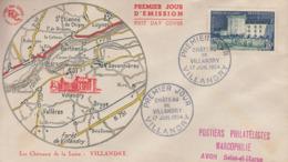 Enveloppe  FDC  1er  Jour    FRANCE    Le  Chateau   De  VILLANDRY   1954 - FDC