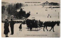 Excursion En Franche-Comté Patineurs Aux Bassins Du DOUBS  Janvier 1904 (attelage, Traîneau) - Non Classés