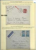 Lot De 2 Lettres Par Avion D'Alger-Brazzaville (ligne AIR AFRIQUE 3ème Courrier Aller Retour) (56) - Algeria (1924-1962)
