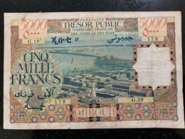 Djibouti Africa Somalia 5000 Francs Banknote FRENCH AFARS & ISSAS 1969 Rrrr - Gibuti