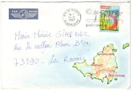 23306 - GUADELOUPE Avec Carte - Briefmarken