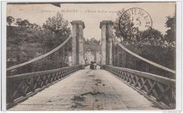 BEAULIEU L'ENTREE DU PONT SUSPENDU 1926 - France