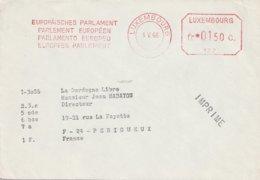 """EMA Sur Enveloppe """"Parlement Européen"""" 132 (Luxembourg) Du 03-05-1966 (imprimé) - Machine Stamps (ATM)"""