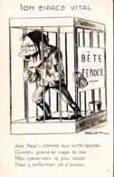 Thematiques Satirique Adolf Hitler Son Espace Vital Bête Féroce - Satirical