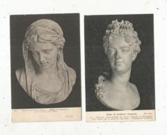 Cp, Arts , Sculpture , Musée De La Sculpture Comparée,buste De M.A De SAVOIE, Buste De La Madeleine ,LOT DE 2 CP - Sculptures