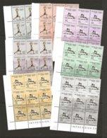 Haïti Tokyo 1965 Olympics Sports Set En Blocs De 9. Yvert #515-17, A288-91. Scott #510-512, C223-C226 LL Corners VF-NH - Haiti