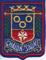 ECUSSON - TISSU BRODE  - CHALON SUR SAONE - Dimension: 5CMS X 6CMS - Ecussons Tissu