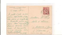 LEVANT 1914 MOUCHON Sur CARTE POSTALE De CONSTANTINOPLE Pour AUXERRE - Lettres & Documents