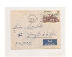 CAMBODGE 1966 ENVELOPPE De PHNOM PENH Pour ST BAUZILLE De La SYLVE ( HÉRAULT ) - Cambodge