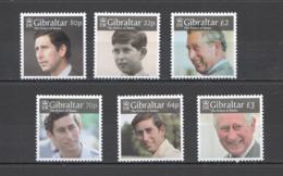 RR785 GIBRALTAR ROYALS CHARLES PRINCE WALES #1879-84 MICHEL 18.8 EURO 1SET MNH - Familles Royales