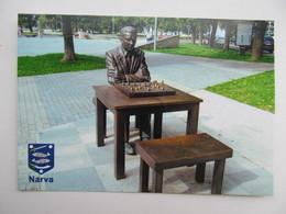 Monument To Paul Keres Narva, Estonia - Schach  - Ajedrez - Echecs - Chess