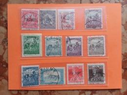 TERRE REDENTE 1918 - FIUME - Lotticino 12 Valori Differenti Timbrati + Spese Postali - 8. WW I Occupation