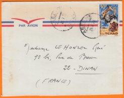 MILITARIA 2 Enveloppes  De  ABECHE  D'un Capitaine Au TCHAD  A.N.T.  Pour 35 RENNES Et 22 DINAN Année 1970 Par Avion - Chad (1960-...)