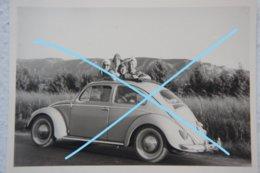 Photo VOLKSWAGEN VW Coccinelle Circa 1955 Voiture Auto Automobile Car Wagen - Cars