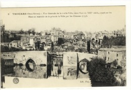 Carte Postale Ancienne Thouars - Vue Générale De La Vieille Ville, Vieux Pont Du XIIIe Siècle - Thouars