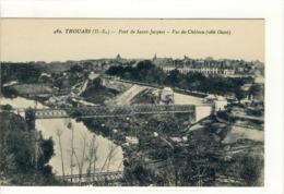 Carte Postale Ancienne Thouars - Pont De Saint Jacques. Vue Du Château (côté Ouest) - Thouars