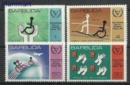Barbuda 1981 Mi 572-575 MNH ( ZS2 BRD572-575 ) - Handicap