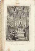 ANVERS CHAPELLE DES DUCS DE NASSAU 1835 INCISIONE DI LEMAITRE - Prints & Engravings