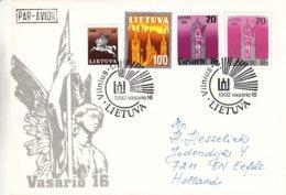 Lituanie - Lettre De 1992 - Oblit Vilnius - Entier Postal - - Lituania