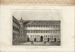 ANVERS COUR DE LA RESIDENCE DES ANSEATES 1835 INCISIONE DI LEMAITRE - Prints & Engravings