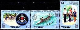 Tuvalu 205 / 07 Centenaire De La Boys Brigade ( Surchargés SPECIMEN ) - Scouting