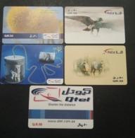 Qatar Telephone Card 5 Different - Qatar