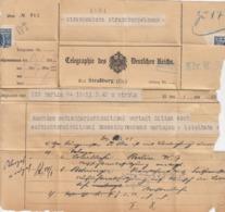 TELEGRAPHIE DE DEUTCHEN REICHS STRASSBURG - Allemagne