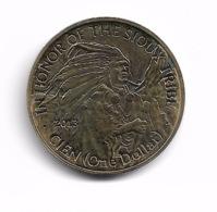 1 DOLLAR PROOF MESA GRANDE TRIBUS SIOUX 2013 - Stati Uniti
