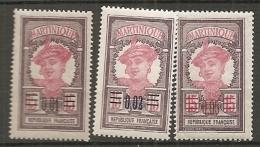 MARTINIQUE -  Yv. N°  86 à 88  *  1c,2c,5c S 15c   Cote  1,7 Euro    TBE 2 Scans - Martinique (1886-1947)