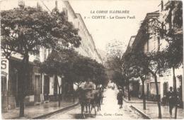 Dépt 20 - CORTE - Le Cours Paoli - (Édition Scagliola, Corte, N° 2) - LA CORSE ILLUSTRÉE - Corte