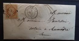 Lettre Locale  De FRAMICOURT, Somme, Postée OISEMONT Pc 2315 / Empire No 13 A, 8 Octobre 1858 > Aumâtre , TB - Marcofilia (sobres)