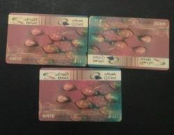 Qatar Telephone Card 3 Nos Same - Qatar