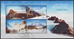 Australian Antarctic 2013 Mountains Minisheet Used - Australian Antarctic Territory (AAT)