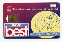 Telecarte °_ Maurice-9-Commercial Bank-55 Units-Gem2- R/V 3493 - Mauritius