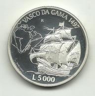 1997 - San Marino 5.000 Lire Argento - Giovanni Caboto - San Marino