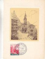 Saint Marin - Carte Postale De 1957 - Oblit Républica Di San Marino - Cate Maximum  ? - Saint-Marin