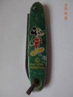 ANCIEN PETIT COUTEAU PLIANT MICKEY - WALT DISNEY PRODUCTION - Disney