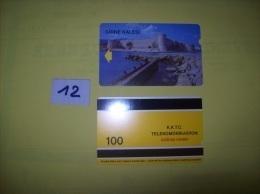 TELECARTE - TURQUIE - Girne Kalesi  - Dos K.K.T.C. Telekomunikasyon  Cagdas Hizmet  100 - Voir Photo ( 12 ) - Turkije