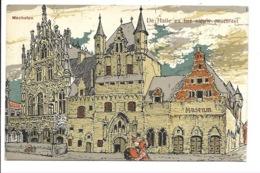 Alfred Ost - Mechelen - De Halle En Het Nieuw Posthotel. - Mechelen