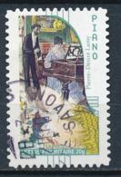 France - La Musique, Piano YT A399 Obl. Cachet Manuel Rond - Adhésifs (autocollants)
