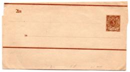 """DR Ganzsache S 8 Streifband """"Pfennig"""" 3 (Pfg) Braun, Ungebraucht - Postwaardestukken"""