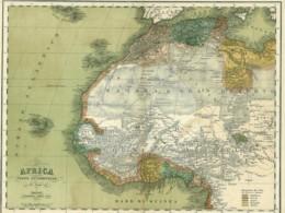 ACG 68 - AFRICA: PARTE OCCIDENTALE - ANTICA CARTA GEOGRAFICA ANTE 1870 - Carte Geographique