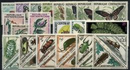 República Centroafricana Nº 1/12, 4/11, 55/7, 198/200. Año 1960/71 - Zentralafrik. Republik