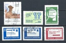 ARGENTINA 1977 A 1979 (O) USADOS MI-1288+1323+1363+1362+1385 YT-1075+1110+1145+1144+1169 VARIOS - Argentina